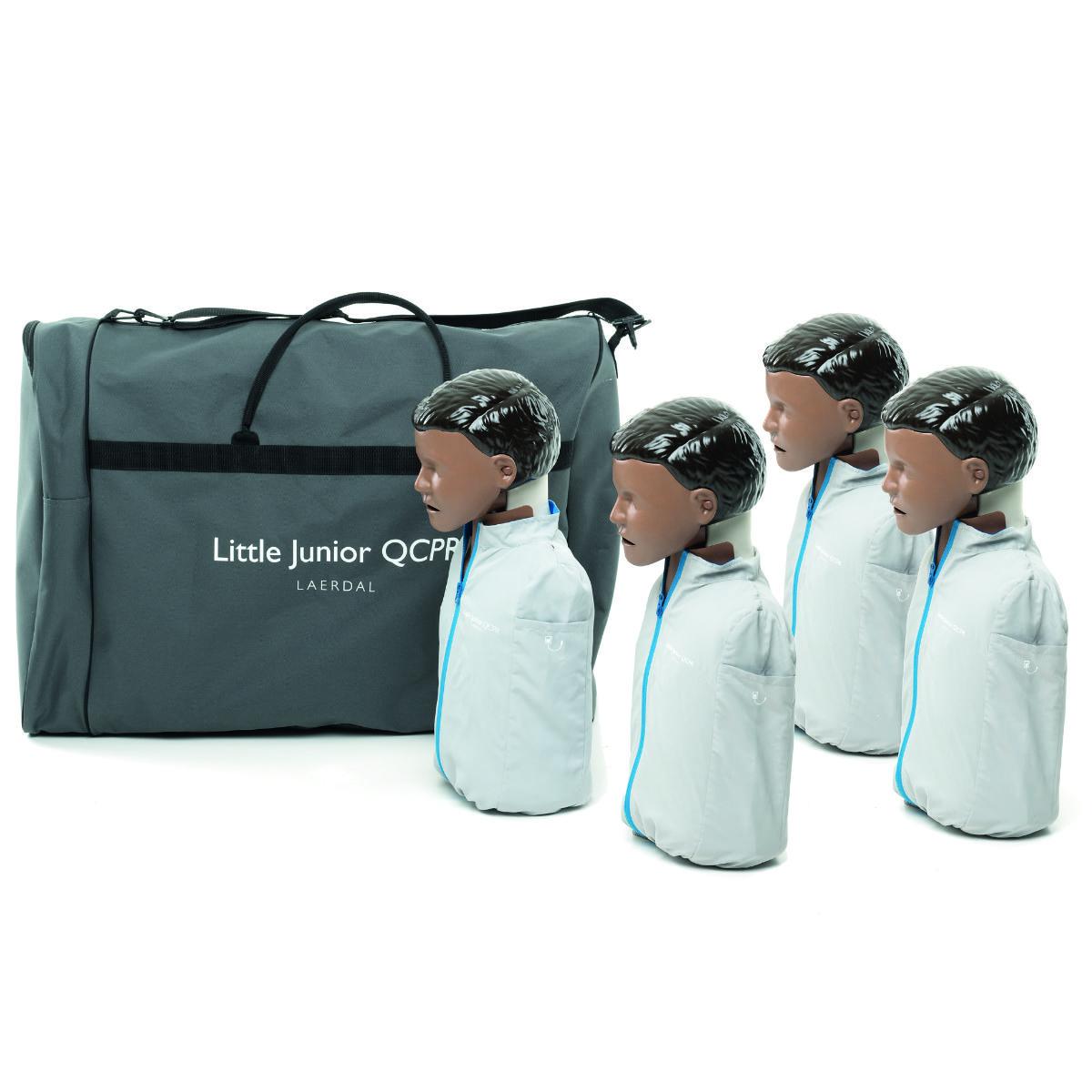Little Junior QCPR, mörk hud 4-pack